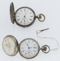 Timepieces:Pocket (pre 1900) , Two Swiss Key Wind Hunter's Case Pocket Watches. ... (Total: 2Items)