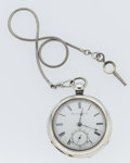 Timepieces:Pocket (post 1900), Waltham Sterling Silver Over Sized Pocket Watch. ...