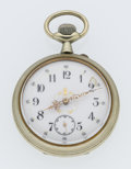 Timepieces:Pocket (post 1900), Swiss Over Sized Rare Pocket Watch. ...