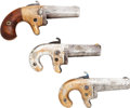 Handguns:Derringer, Palm, Lot of Three Assorted .41 Caliber Rimfire Derringers.... (Total: 3Items)