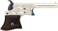Handguns:Derringer, Palm, Custom Engraved Remington Vest Pocket Derringer....