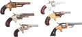 Handguns:Single Action Revolver, Lot of Six Spur Trigger Single Action Pocket Revolvers.... (Total: 6 Items)