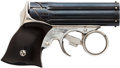 Handguns:Derringer, Palm, Remington Elliot Zig Zag Pepperbox Derringer....