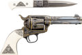 Handguns:Single Action Revolver, Boxed Colt Third Generation Single Action Army Revolver with Matching Knife.... (Total: 2 Items)
