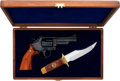 Handguns:Double Action Revolver, Cased Smith & Wesson Model 19 Texas Ranger Double Action Revolver and Bowie Knife Issued for Texas Ranger Sesquicentennial 197...