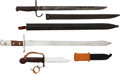 Edged Weapons:Bayonets, Lot of Three Assorted Bayonets.... (Total: 3 Items)