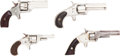 Handguns:Single Action Revolver, Lot of Four Spur Trigger Single Action Pocket Revolvers.... (Total: 4 Items)