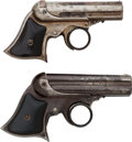 Handguns:Derringer, Palm, Lot of Two Multi-Barrel Remington Derringers.... (Total: 2 Items)