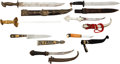 Edged Weapons:Knives, Lot of Seven Tourist Trade Grade Knives and Scabbards.... (Total: 7Items)