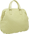 Luxury Accessories:Bags, Bottega Veneta Light Green Intrecciato Nappa Leather Large BowlingBag. ...