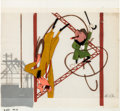 Animation Art:Production Cel, Trouble Indemnity Mr. Magoo Production Cel (UPA, 1951)....