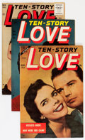 Golden Age (1938-1955):Romance, Ten Story Love Group (Ace, 1954-56) Condition: Average VF....(Total: 7 Comic Books)