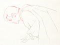 Animation Art:Production Drawing, Snow White and the Seven Dwarfs the Prince ProductionDrawing (Walt Disney, 1937)....