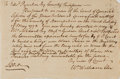 """Miscellaneous:Ephemera, [Colonial America]. Early Massachusetts Pay Order. One page, 6.25""""x 4.25"""", May 1772, ordering county Treasurer Edward Pynch..."""