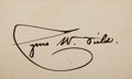 Autographs:Celebrities, Cyrus W. Field Card Signed. Field (1819-1892), an Americanfinancier known for establishing the Atlantic Telegraph Company,...