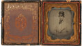 Military & Patriotic:Civil War, Three Pieces, with Extensive Supporting Documentation, Related to Lt. Euclid T. Morrison,... (Total: 5 Items)