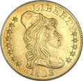 Early Half Eagles, 1803/2 $5 MS62 NGC. BD-4, R.4....
