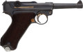 Handguns:Semiautomatic Pistol, German Mauser G Date P08 Luger Semi-Automatic Pistol With Holster,Snail Drum Magazine, Three Extra Magazines and .22 Conversi...(Total: 3 Items)
