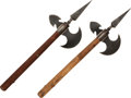 Edged Weapons:Other Edged Weapons, Lot of Two Reproduction Medieval Style Axes.... (Total: 2 Items)