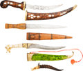 Edged Weapons:Knives, Lot of Four Assorted Tourist Grade Knives with Scabbards....(Total: 4 Items)