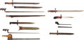 Edged Weapons:Bayonets, Lot of Eight Miscellaneous Bayonets.... (Total: 8 )