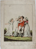 """Miscellaneous:Ephemera, [Lithographic Print]. Leap Year - or Love in Plenty. Laurie& Whittle, 1800. 13.25"""" x 17"""", hand-colored. With a ..."""