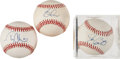Autographs:Baseballs, 1980's And 90's Baseball Superstars Lot Of 3....