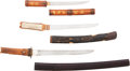 Edged Weapons:Other Edged Weapons, Lot of Three Tanto in Koshirae.... (Total: 3 )