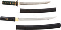 Edged Weapons:Other Edged Weapons, Lot of Two Japanese Tanto in Koshirae.... (Total: 2 )