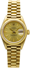 Estate Jewelry:Watches, Rolex Lady's Gold DateJust Wristwatch. ...