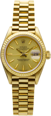 Rolex Lady's Gold Datejust Wristwatch
