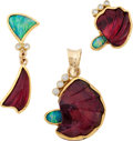 Estate Jewelry:Suites, Tourmaline, Opal, Diamond, Gold Jewelry Suite. ...