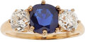 Estate Jewelry:Rings, Sapphire, Diamond, Gold Ring, Tiffany & Co., early 20th century. ...