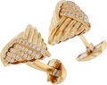 Estate Jewelry:Cufflinks, Diamond, Gold Cuff Links, Henry Dunay. ...