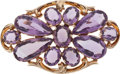 Estate Jewelry:Brooches - Pins, Amethyst, Gold Pendant-Brooch. ...