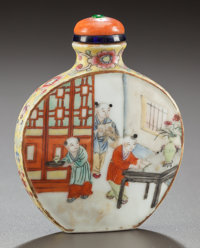 A CHINESE PORCELAIN SNUFF BOTTLE Circa 1900 2-3/4 inches high (7.0 cm)