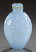Asian, A CHINESE CARVED HARDSTONE SNUFF BOTTLE. Circa 1900. 3 inches high(7.6 cm). ...