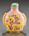 Asian, A CHINESE CARVED COMPOSITE SNUFF BOTTLE. Circa 1900. 3 inches high(7.6 cm). ...