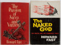 Books:Literature 1900-up, Howard Fast. SIGNED. Two First Editions. Various Publishers. 1954-1957. The Passion of Sacco and Vanzetti First British ... (Total: 2 Items)