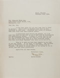 Autographs:Authors, Hervey Allen Typed Letter Signed....