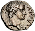 Ancients:Roman Imperial, Ancients: Tiberius (AD 14-37), with Drusus Caesar (died AD 23). ARdrachm (16mm, 3.45 gm, 11h). ...