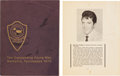 Music Memorabilia:Autographs and Signed Items, Elvis Presley - A Signed Booklet, 1971....