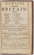 Books:World History, William Camden. Remains Concerning Britain. Their Languages, Armories, Moneys, etc. London: for Charles Harper. ...
