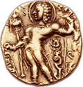 Ancients:Oriental, Ancients: INDIA. Gupta Empire. Chandragupta II Vikramaditya (ca. AD 380-413). AV dinar (20mm, 7.95 gm, 12h)....