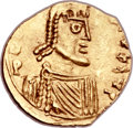 Ancients:Byzantine, Ancients: Leontius (AD 695-698). AV tremissis (15mm, 1.32 gm,6h). ...