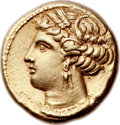 Ancients:Greek, Ancients: ZEUGITANIA. Carthage. Ca. 320-310 BC. EL Stater (19mm,7.53 gm, 12h)....