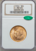 Indian Eagles, 1932 $10 MS65 NGC. CAC....
