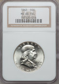 Franklin Half Dollars, 1962 50C MS65 Full Bell Lines NGC....