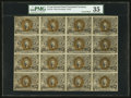 Fractional Currency:Second Issue, Fr. 1233 5¢ Second Issue Uncut Block of Sixteen PMG Choice Very Fine 35.. ...