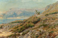 Fine Art - Painting, European:Antique  (Pre 1900), CHRISTIAN ZACHO (Danish, 1843-1913). Coastal Landscape,1893. Oil on canvas. 16 x 23-3/4 inches (40.6 x 60.3 cm). Signed...